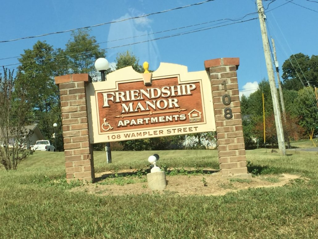 Friendship Manor's Sign