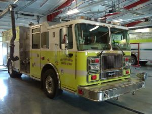 Engine 7 is a 2007 Seagrave 1250 GPM Pumper
